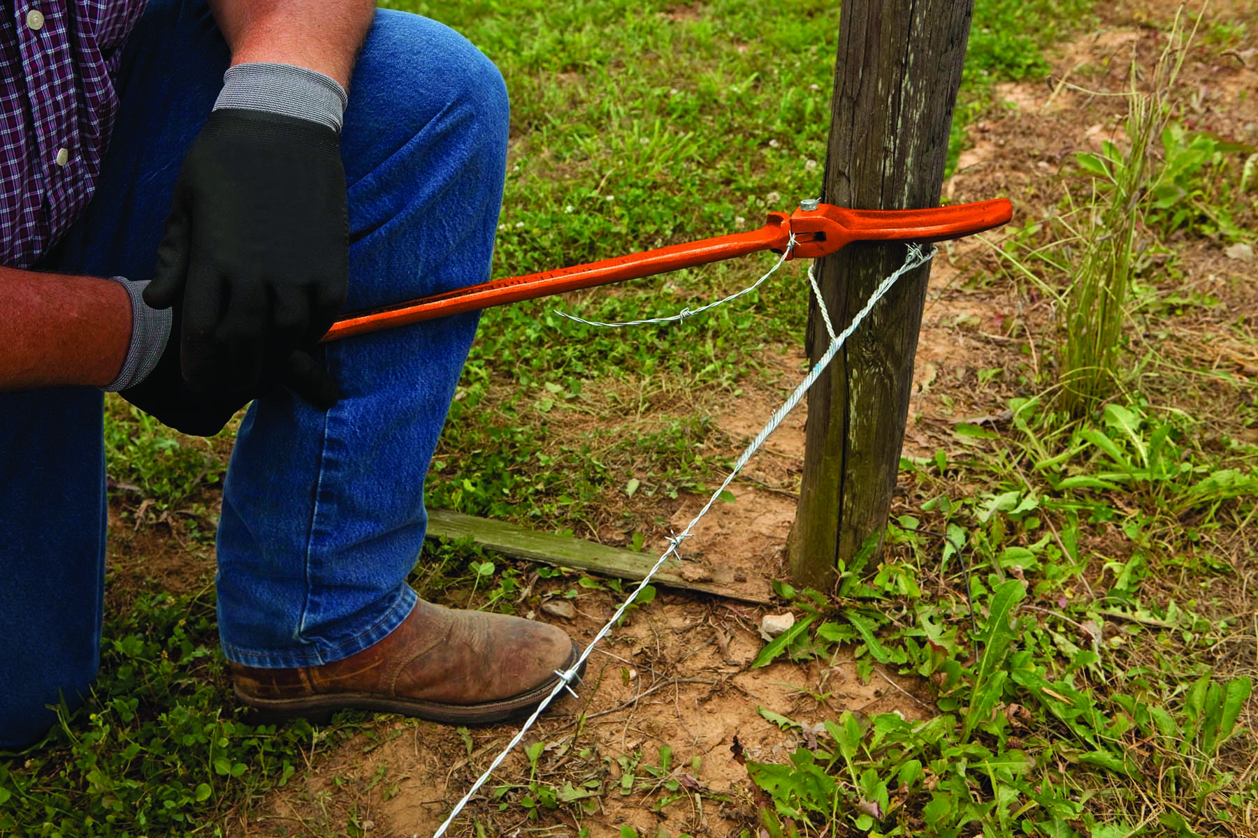 Innovative product line moves wire fence construction and repair ...