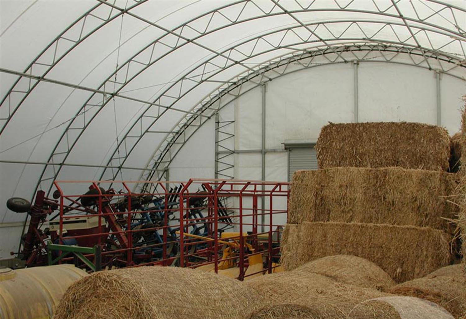 Fabric Shelters For Aquaculture : Product spotlight fabric covered buildings farmers hot line